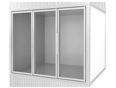 холодильная камера со стеклом